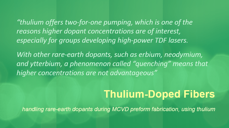 Thulium-Doped Fibers